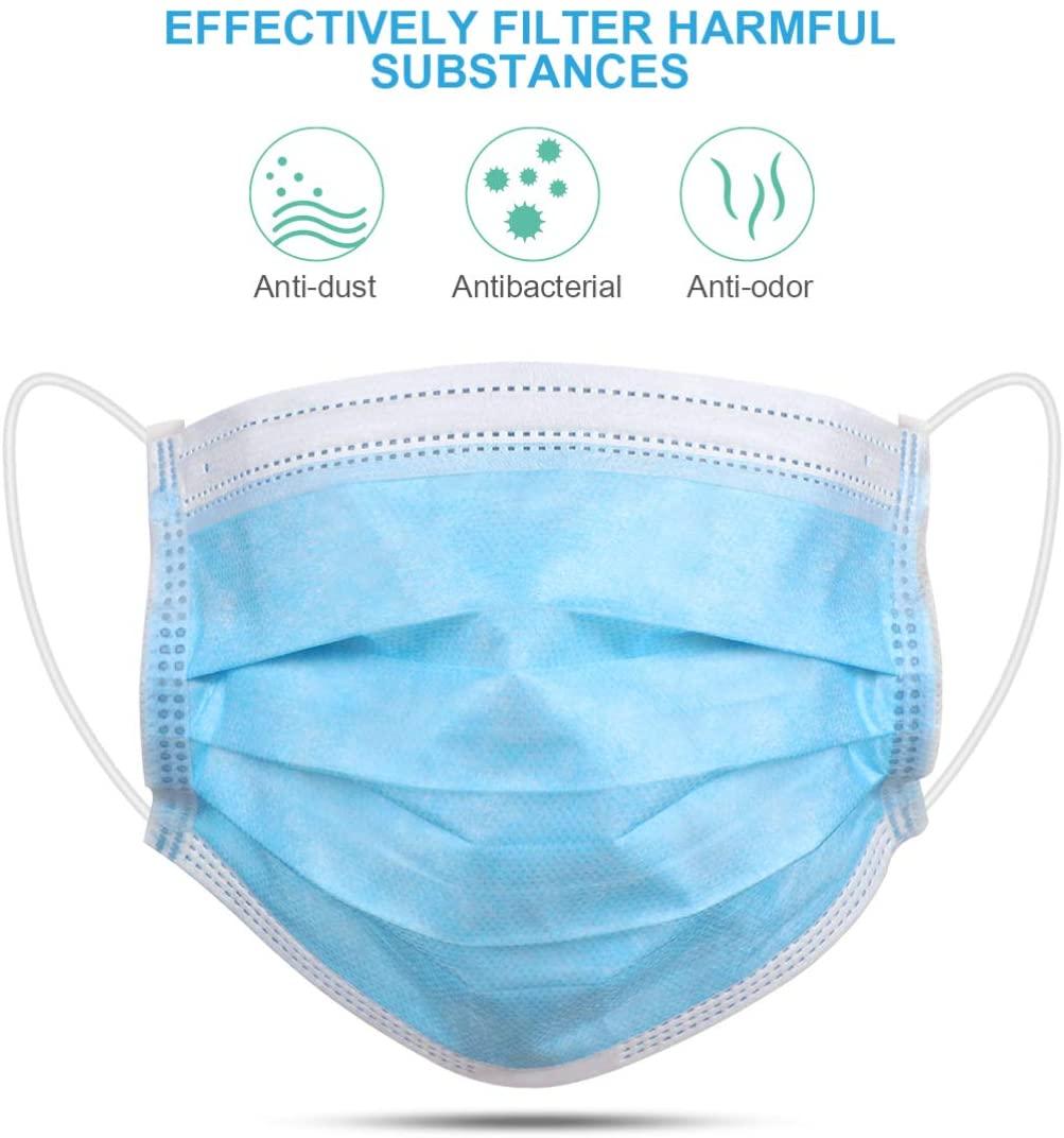 Mascarilla quirúrgica de respiración desechables para protección contra el polvo y coronavirus