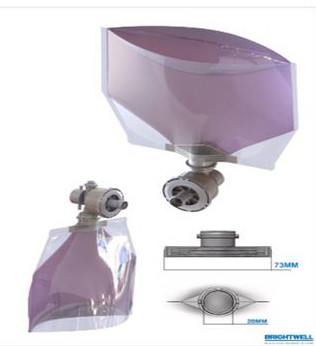 Bolsas dispensador de jabón-parabolsas y rellenables purpura
